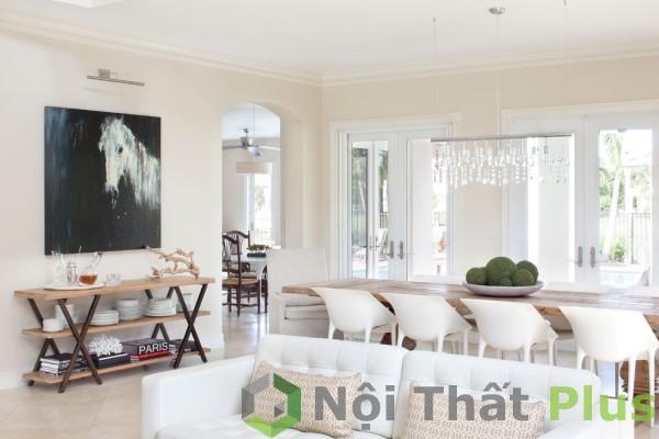 giá thiết kế mẫu phòng khách kiểu mở cho biệt thự