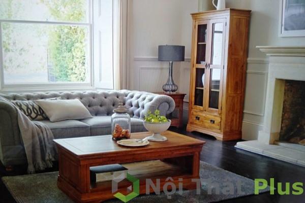 thiết kế phòng khách bằng gỗ